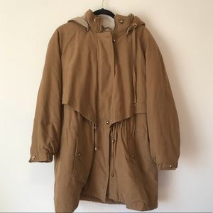 Camel colored puffy jacket